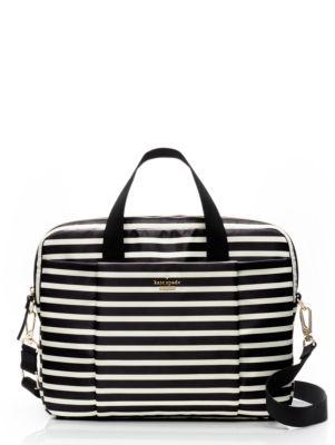 classic nylon stripe laptop commuter bag