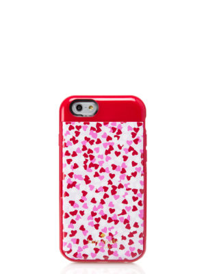 confetti print iphone 6 stowaway case