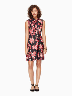 shadow buds pleated dress