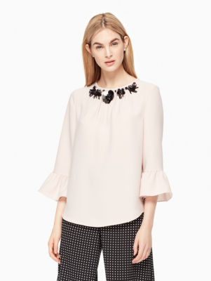 embellished crepe top