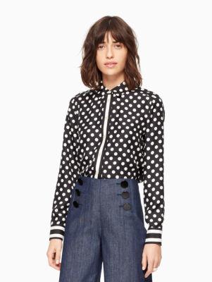 dot stripe silk shirt