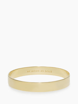 solid gold idiom bangle