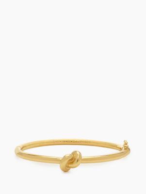 sailor's knot pave hinge bangle