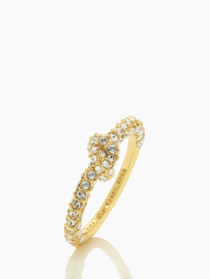 sailor's knot pave ring