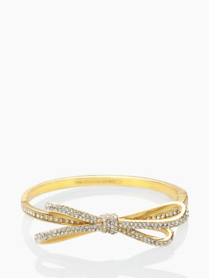 tied up pave hinge bangle