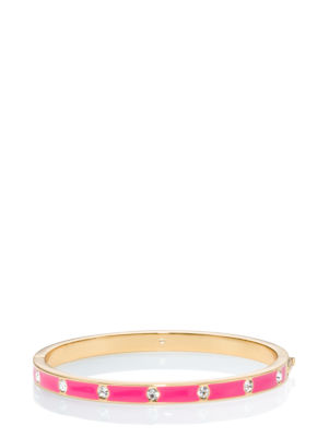set in stone enamel stone hinged bangle