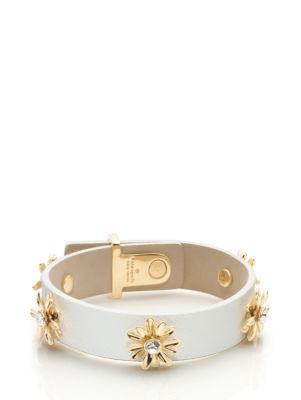 dazzling daisies leather bracelet